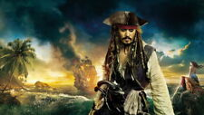 "006 Pirates of The Caribbean - Captain Jack Sparrow Deep Movie 24""x14"" Poster"