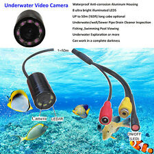 waterproof 15m cable 520TVL underwater inspection camera with 8 LED/IR lamps
