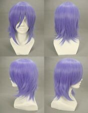 Rosario + Vampire Mizore Shirayuki Cosplay Wig Short Blue Purple Hair Wigs