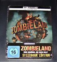 Zombieland 4K Ultra HD blu ray Limitata steelbook Edition Nuovo & Originale