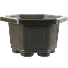 Pot /à bonsa/ï 24.5x17.5x7cm marron fonc/é rectangulaire plastique