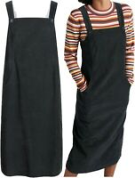 NEW In STUNNING SEASALT 'Free Writing' Long Cord Lined Pinafore Dress ONYX 10-20
