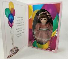 Marie Osmond Porcelain Doll Birthday Greeting Card Doll Knickerbocker