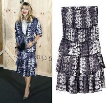 NWT Isabel Marant H&M Teared Purple Snakeskin Print Midi Skirt/ Dress 34 uk 6