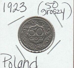 1923 Poland 50 Groszy - Y# 13 - Circulated