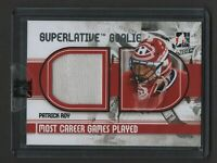 2009-10 ITG Superlative Vol. 2 Goalie Games Played PATRICK ROY 6/9 Canadiens HOF