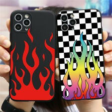 Flame Pattern Soft Silicone Cover For iPhones 11 XR 7 Samsung Huawei Xiaomi Case
