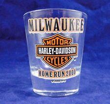 MILWAUKEE HARLEY DAVIDSON HOME RUN 2000 SHOT GLASS