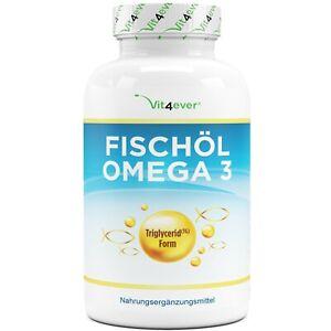 Omega 3 Fischöl 420 Softgel Kapseln (TG) 1000mg Lachsöl 18% EPA & 12% DHA