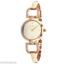 DKNY Ladies D-Link Rose Dial Rose Gold-tone Watch NY8871