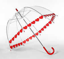Elite Rain Frankford Heart String Trim Clear Dome Bubble Umbrella