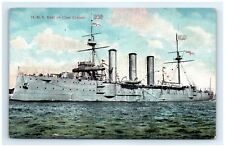 Postcard HMS Kent 1st Class Cruiser Vintage View D4