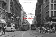 PHOTO  GENEVE TRAM 1988 TPG BEL AIR TRAM NO 704 ON ROUTE 12