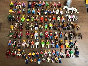 Huge Playmobil Lot 100+ People & Animals Figures & Accessories