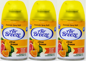 Glade/Air Wick Citrus Breeze Automatic Spray Refill, 6.2 oz (Pack of 3)