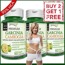GARCINIA CAMBOGIA 95% HCA Capsules PURE Fat Burn Slim Weight Loss Natural Diet