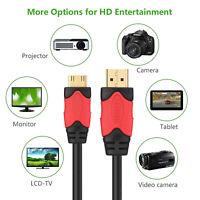 Premium Mini HDMI to HDMI Adapter Cable Mini Displayport - 6 Feet=1.8M 10Feet=3M