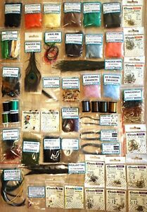 NYMPH WET FLY TYING HUGE KIT Set of Fly tying nymph&wet materials for beginners