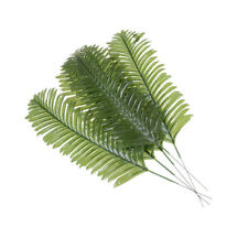 5X Lifelike Artificial Green Palm Branch Leaves Wedding Party Home Decor 38cm PL