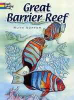 Dover GREAT BARRIER REEF Adult Coloring Book Ruth Soffer Fine 2007