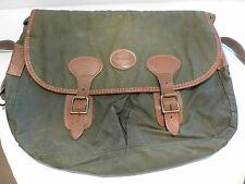 BARBOUR- B700  HIGHLAND WAXED COTTON THORNPROOF BAG--MADE IN ENGLAND