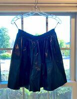 MIU MIU FW18 Black Leather Calfskin Mini Skirt Size IT 42 (US 6)