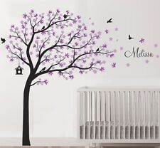 Wall Stickers Custom Name Colour Xlarge Blowing Tree Bird Decal Home Vinyl  Kids Part 75