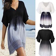 Women Summer Dress Casual Evening Short Mini Beach Sundress Plus Size L- 5XL