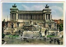 MONUMENT TO VICTOR EMANUEL II, KING OF THE UNITED ITALY, RPPC  CIRCA 1945-50.