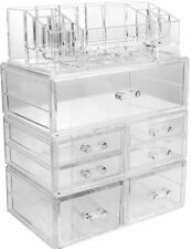 Sorbus Acrylic Cosmetics Makeup and Jewelry Storage Case Display Sets – New