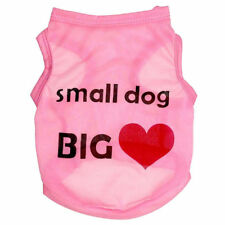 Pink Fashion Summer Cute Small Pet Dog Apparel Clothes Shirt Big Heart Small Dog