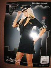 Womens MILE HIGH AIRLINE CAPTAIN PILOT sexy hot Halloween Costume S Sm dreamgirl