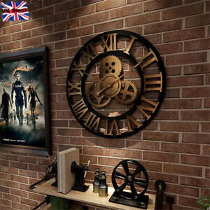 Large Roman Numeral Wall Clock 60cm Big Giant Outdoor Garden Wall Clock Decor UK