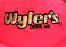 WYLER's Drink Mix baseball hat dayglo nylon logo cap embroidery hot-pink powder