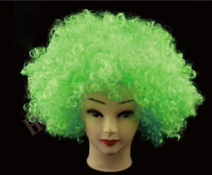 Fashion Women Mens Afro Curly Clown Costume Party Disco Wig Wigs Hair 16 Color