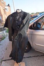 Antique Victorian Dress Mourning Bodice Skirt Cape Black Lace Trim 4 Piece Woman