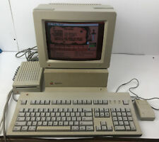 Vintage Apple IIGS Computer Color Rgb Monitor Keyboard Bus Mouse