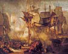 Battle of Trafalgar by J M W Turner - Lord Nelson Victory Death 8x10 Print 1158