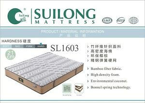 SUILONG 21cm Hard Coconut Fibre Spring Mattress with 15mm High Density Foam