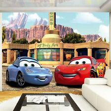 DISNEY CARS PHOTO WALL MURAL KIDS BEDROOM WALL DECOR OFFICIAL FREE P+P NEW