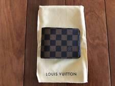 New Vintage Louis Vuitton Multiple WalletDamier Ebène Canvas (1987)