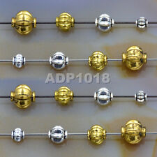 50Pcs Tibetan Silver & Gold Plated Round Lantern Pumpkin Connector Spacer Beads