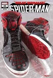 """MILES MORALES: SPIDER-MAN #29 Mike Mayhew """"Sneakerhead"""" Variants"""