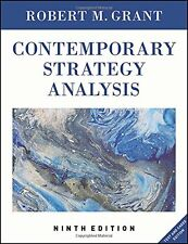 Contemporary Strategy Analysis: Text and Cases Edition New Paperback Book Robert