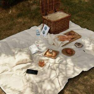 Cotton Waterproof Boho Picnic Rug , White Boho Picnic Blanket Beach Blanket