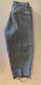 Vintage Italian Army Winter Alpine Cargo Pants Wool Model 1950 Capri Knickers