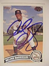 DELINO DeSHIELDS signed 2011 Topps Pro Debut baseball card AUTO RANGERS ASTROS