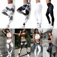 Womens Workout Leggings Yoga Gym Jogging Slim Fit Sports Training Pants Trouser