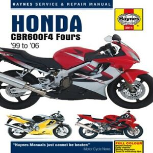 Haynes 1999-2006 Honda CBR600F4 Owners Maintenance Repair Service Shop M3911