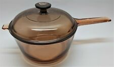 2.5L Corning Ware France Vision Amber Glass Cooking Pot with Lid